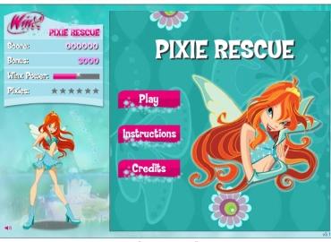 Игры Винкс спасают Пикси