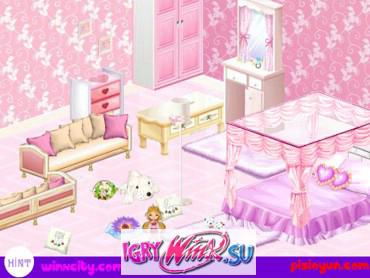 Розовая комната Винкс бесплатная игра
